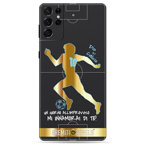 Cover SAMSUNG compatibile - DIO DEL CALCIO - personalizzata con effetto Rilievo 3D morbida Slim Super Protettiva (Galaxy S6 Edge, ORO)