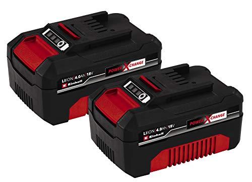 Original Einhell Akku PXC-Twinpack 4,0 Ah Power X-Change Volks.Akku (Li-Ion, 18 V, 2x 4,0 Ah, für alle PXC-Geräte geeignet, proaktives Batteriemanagement, situativ angepasste Ladezyklen)