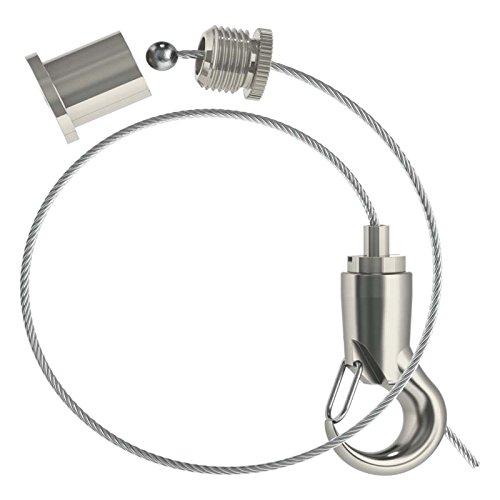 Abhängeset mit kleinem Haken-Gripper Ø 1,5mm / Drahtseil Länge: 3000mm