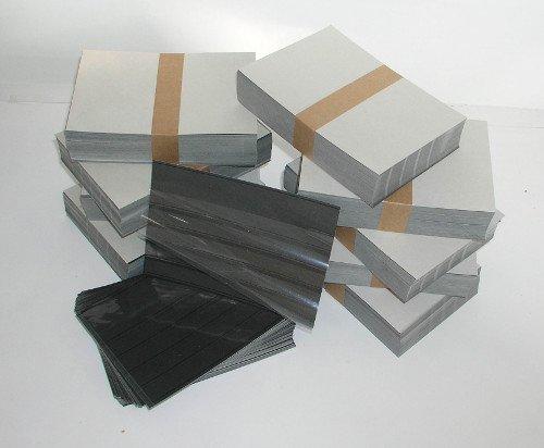 Goldhahn Sonderposten - EINSTECKKARTEN STECKKARTEN mit Folie A5 5 Streifen 1.000 Stück schwarzer Karton Briefmarken für Sammler