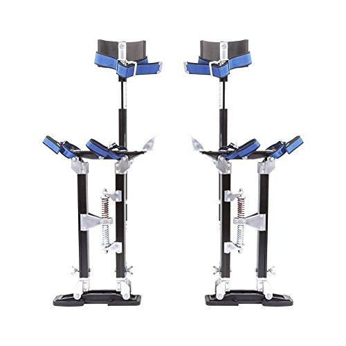 Aleación de Aluminio Profesional Ajustable Pilotes de Drywall Zancos de Revestimiento Herramienta de Pintor (24-40 Pulgadas (61-102cm), Negro)