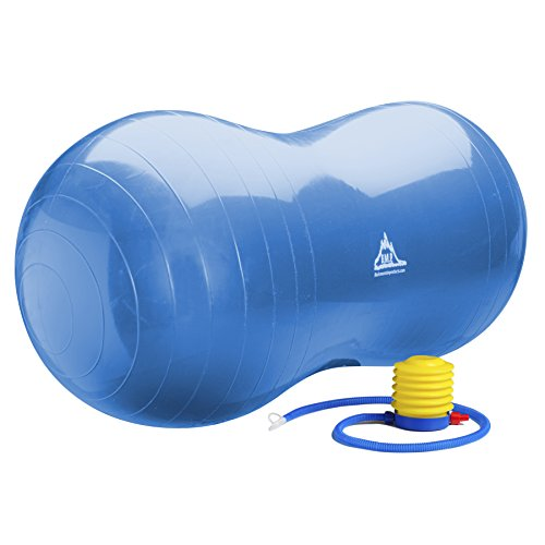 Price comparison product image Black Mountain Products Blue Peanut Ball Peanut Stability Ball with Pump 1000Lb Static Weight Capacity