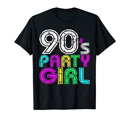 I love 90S Tees 90 \'s Party Girl Retro Vintage Neon T Shirt
