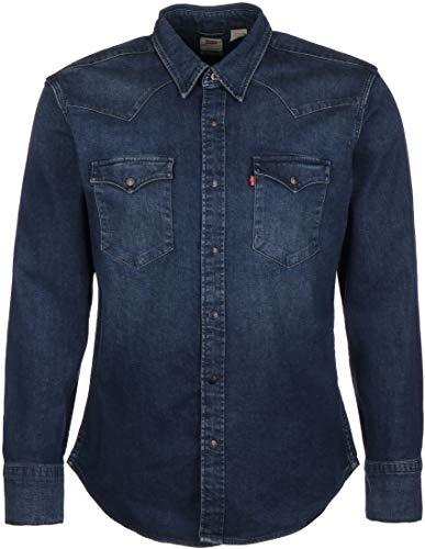 Levi's® Barstow Western Slim Langarmhemd modern Stretch Dark Worn