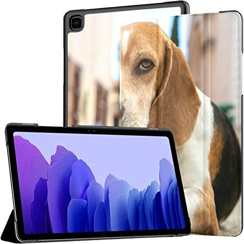 Funda para Tableta Samsung A7 Retrato Beagle tendido en la Calle Funda Colonial para Samsung Galaxy Tab A7 10.4 Pulgadas Funda Protectora de liberación 2020 Funda Samsung Galaxy A7 Funda para Tableta