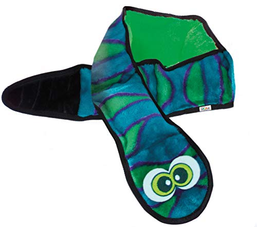 Outward Hound Invincibles Blue Snake Dog Toy - Stuffingless, Tough and Durable Squeakers, XL