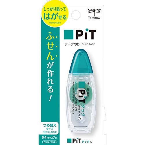 トンボ鉛筆 テープのり ピットタックC PN-CK 本体サイズ:w28xd20xh75 mm/23g