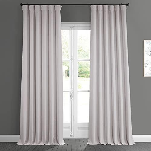 HPD Half Price Drapes BOCH-LN185-P Faux Linen Room Darkening Curtain (1 Panel), 50 X 108, Birch