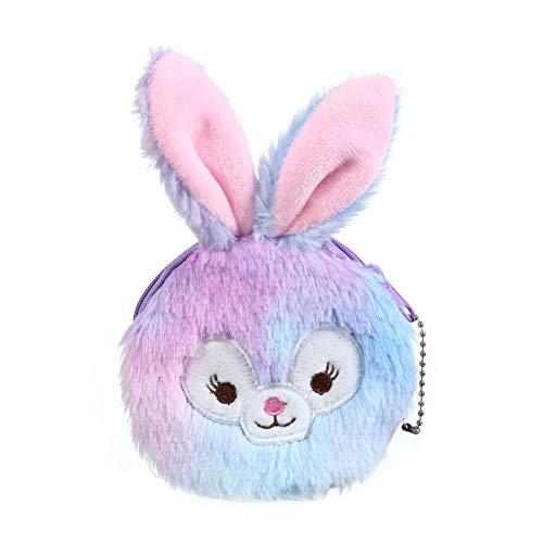 CyFe - Borsa portamonete per bambini con cerniera, a forma di coniglio e laser, facile da trasportare monete, carte, chiavi, mini borsa