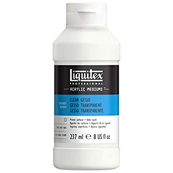Liquitex 7608 Professional Gesso Surface Prep Medium Clear 8-oz