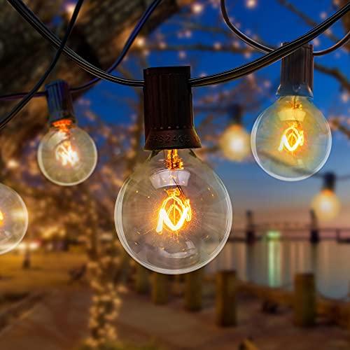 Outdoor String Lights Mains Powered - 34.5FT Electric Garden String Festoon...