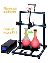 ADIMLab Gantry Pro 3d printer is newest version updated recently, includes: ◆The hot bed with Lattice Glass Platform  ◆24V15A UL Certified Power supply ◆Titan direct extruder with head light ◆V5/V6 metal hot end with 2 fans on◆Filament run out detect...