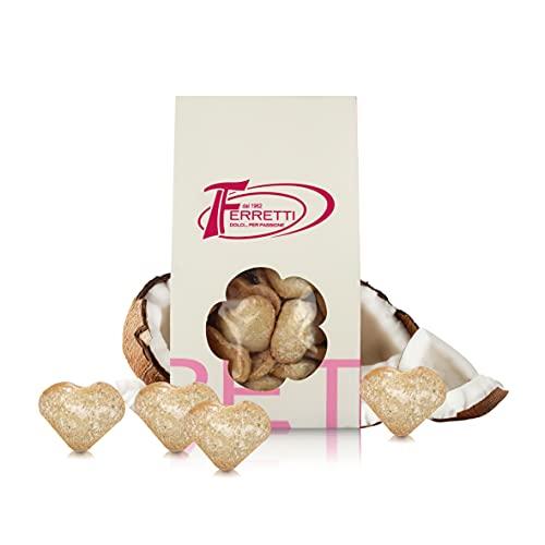 Galletas Artesanales con Coco, Horneadas en Italia, Paquete de 350 Gramos