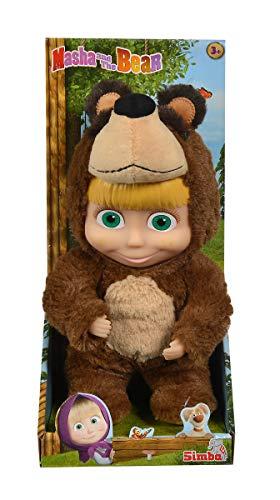 Simba- Bambola Masha con Costume Orso,cm 25, Colore, 109301064