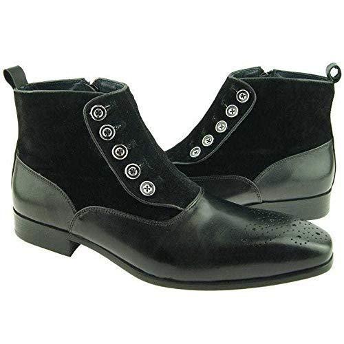 mens black leather boots uk
