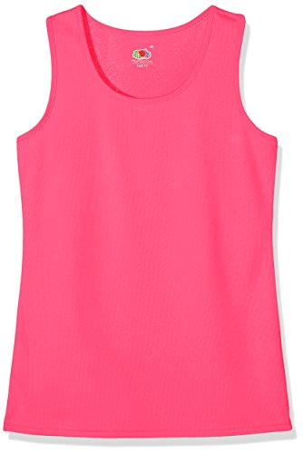 Fruit of the Loom Performance Gilet, Fucsia, L Donna