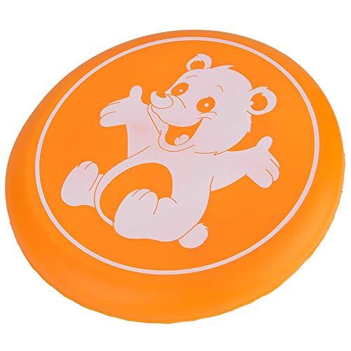 フリスビー フライングディスク アウトドアスポーツディスク玩具 安全 20cm 柔軟性 投げるおもちゃ 歯耐性 屋外スポーツ 幼稚園(オレンジ)
