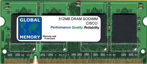 512MB DRAM SODIMM MEMORY RAM FOR CISCO 880 SERIES ROUTERS (MEM8XX-256U768D)