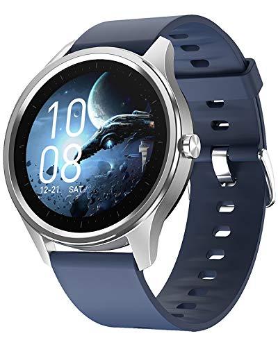 Fitness Uhr Smartwatch Damen Herren Schwarz Pulsuhr Sport Schrittzähler Wasserdicht Kalorien Tracker Armbanduhr mit Blutdruckmessung Smart Watch IOS Android