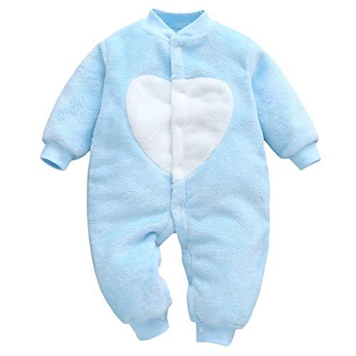DEBAIJIA Baby Strampler 0-2T Säugling Overall Kleinkind Spielanzug Footed Neugeborene Jumpsuit Kinder Pyjama Junge Mädchen Unisex (Blau-59)