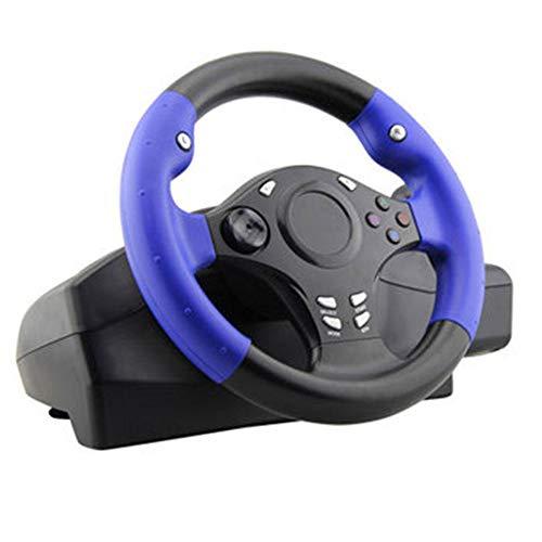 Ashey Volant de Course Automobile de 270 degrés, 7 en 1, avec pédale Sensible, pour PS4 / pour Xbox-One/pour XBOX-360 / Switch/Android Simulation Drive