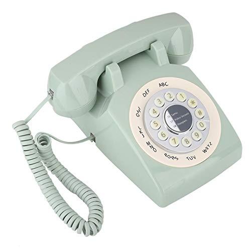 Hakeeta Téléphone Rétro, Téléphone Fixe Vintage Téléphone Fixe Filaire Vieux Vintage Européenne Téléphone avec Push Button/Stockage de Numéros pour Maisons et Bureaux