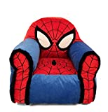 Idea Nuova Marvel Spiderman Figural Bean Bag Chair with Sherpa Trim, Ages 3+, Red