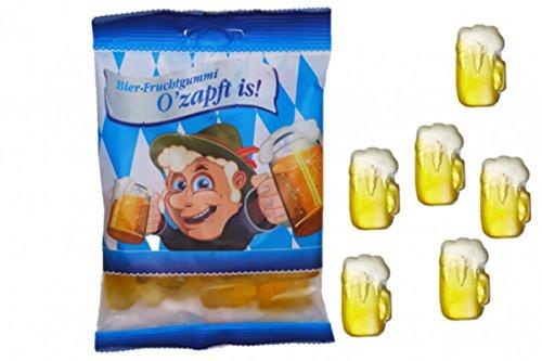Unbekannt O'zapft is! Fruchtgummi, Fruchtgummi in Krugform mit Biergeschmack im Themenbeutel. Ohne Alkohol! 125 g zapft is
