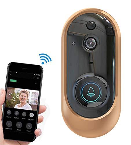 JFSKD Intelligente draadloze alarmdeurbel draadloze video-deurbel meerdere mogelijkheden voor het wakker maken Ondersteuning van real-time intercominstallaties PIR-bewegingsdetectie