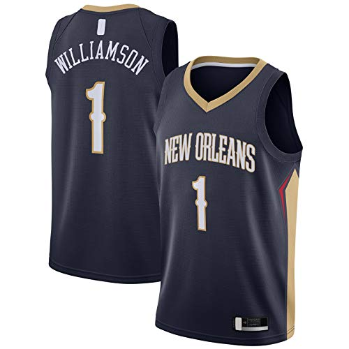 # NAME? Camiseta de baloncesto nueva bordado Orleans Sportswear # 1 ronda 2019Draft First Custom Pick Swingman Jersey Williamson Icono Edition-XXL