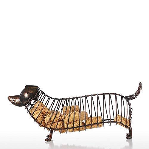 DLY Mode Moderne Metalen Puppy flessen Crafts Geschenken Home Decoraties Creatieve Desktop Decoratie (35 * 12 * 15CM) Vrij