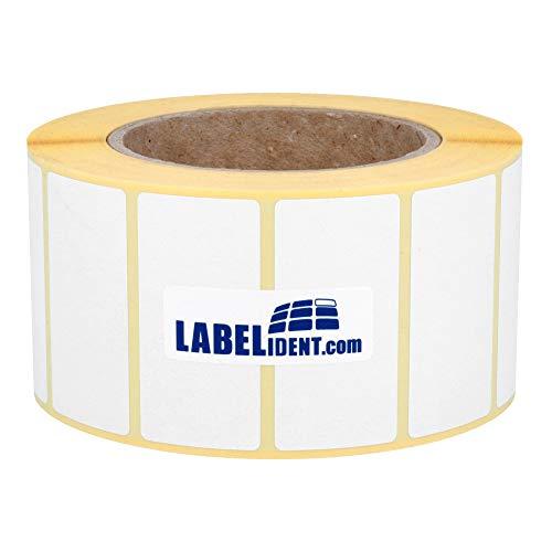 Labelident Thermotransfer-Etiketten 76 x 38 mm, formatgleich mit Zebra Z-Perform 1000T - 3634 Papier-Etiketten auf 3 Zoll Rolle für Standard- und Industriedrucker, matt, selbstklebend