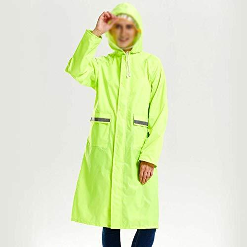 DongYuXuXuXi Regenjas Mannelijk Verdikt Enkel Lichaam Volledige Lichaam Waterdichte Cape Lange Eéndelige Outdoor Regen Gear Regenstorm Rijden Poncho XL Leger Groen