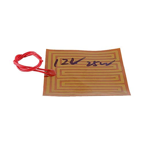 12V Polyimide Heating Film, 25W PI Polyimide Heater Plate 100mmx100mm Polyimide Flexible Adhesive Heater