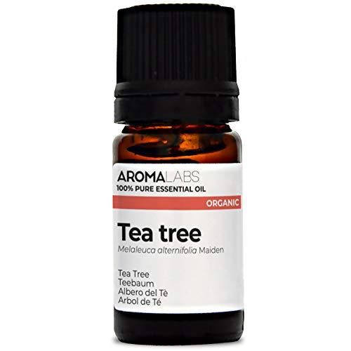 BIO - Huile essentielle de TEA TREE - 5mL - Qualité thérapeutique et chémotype certifiés - AROMA LABS - Fabrication Française