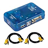 F93DS KVM Switch Box 2 porte USB 2.0 VGA PS2 2 PC Tastiera Mouse Monitor + 2 cavi