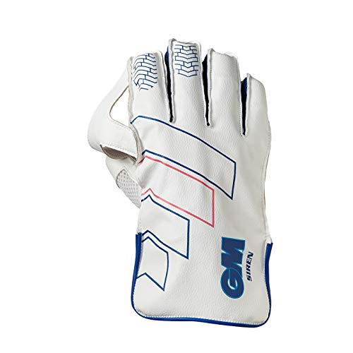 Gunn & Moore Unisex-Youth Siren Wicket Keeping Gloves, White, Junior