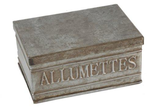 Boite alumettes en zinc 13 X 9 X 6 cm
