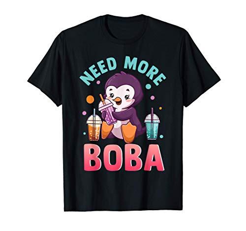 Té de burbujas Boba Pingüino Kawaii Camiseta