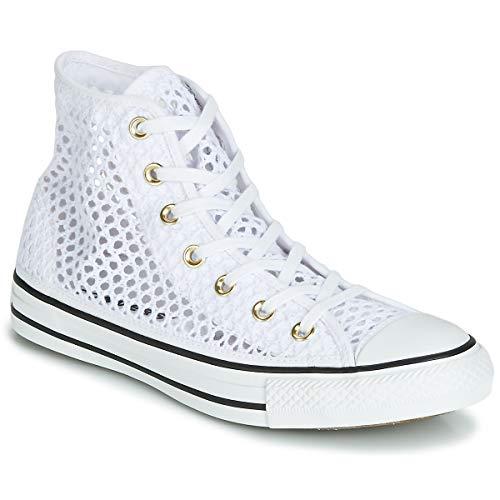 Converse Chuck Taylor All Star Handmade Crochet HI Sneaker Damen Weiss - 41 - Sneaker High