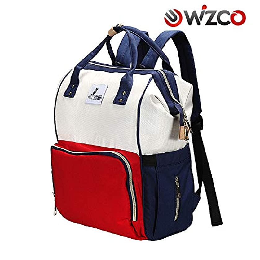 WIZCO 15.7'' White/RED/Blue Backpack