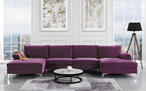 Best Sofamania Modern Sectional, Purple