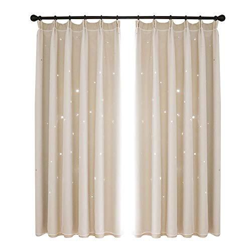 Moderne sterren gordijnen voor verduisteringsgordijnen in de kamer thuis raamdecoratie gordijn
