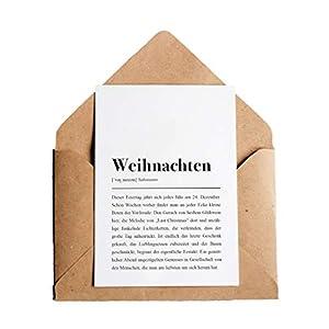 Weihnachten Definition: Grußkarte mit Umschlag