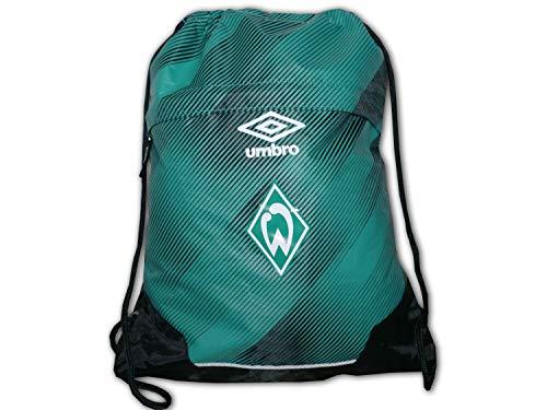 UMBRO Werder Bremen Gymsack grün SV Werder Turnbeutel Fanartikel SVW Sportbeutel