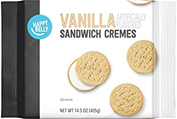 Amazon Brand - Happy Belly Vanilla Sandwich Cremes 14.3 Ounce