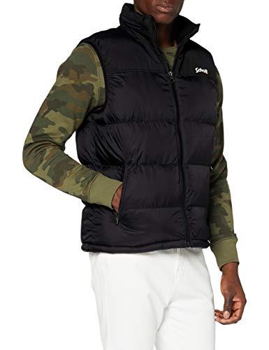 Schott Nyc UTAHV Jacket Homme, Noir, XXL