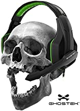 Ghostek Hero Series Gaming Headphones Over-Ear   3.5MM Jack   PC Video Gaming  120° Microphone Rotation + Mute Switch   Integrated Volume Control   Ultra Resistant Braided Cable (Green)