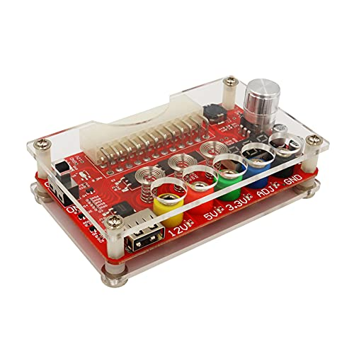 MOTINGDI CAR 1 conjunto de 12 V 24 Pin tablero ATX módulo de alimentación con ADJ sensor táctil interruptor acrílico shell kit