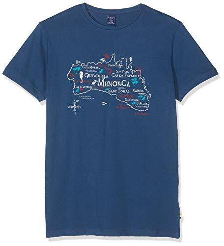 Springfield FR Mapa Navy Camiseta, Azul (Gama Azules 15), Large (Tamaño del Fabricante:L) para Hombre